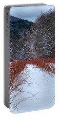 Winter Scene Portable Battery Charger by Tom Singleton