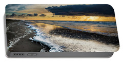 Winter Sea Sunset Portable Battery Charger