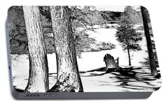 Portable Battery Charger featuring the photograph Winter Shadows by David Patterson