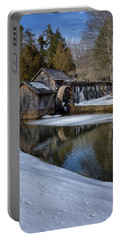 Winter Snow At Mabry Mill Portable Battery Charger