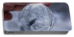 Winter Snow Globe Portable Battery Charger