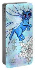Winter Snowflake Fairy Cat Portable Battery Charger
