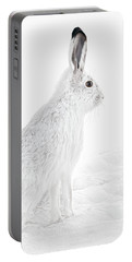 Portable Battery Charger featuring the photograph  Winter Snowshoe Hare by Jennie Marie Schell