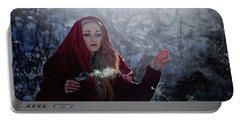 Winter Spell Portable Battery Charger by Agnieszka Mlicka