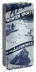 Winter Sports In The Alleghenies Portable Battery Charger