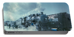 Winter Steam Train Portable Battery Charger