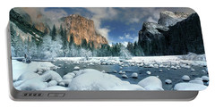 Portable Battery Charger featuring the photograph Winter Storm In Yosemite National Park by Dave Welling