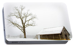 Portable Battery Charger featuring the photograph Winter Storm On The Farm by George Randy Bass