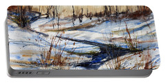 Winter Stream Portable Battery Charger by Judith Levins