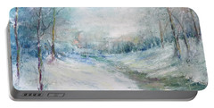 Winter Stream Portable Battery Charger by Robin Miller-Bookhout