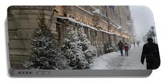 Winter Stroll In Helsinki Portable Battery Charger by Margaret Brooks