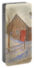 Winter Sugar House Portable Battery Charger by Stanton Allaben
