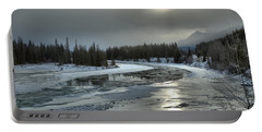 Winter Sun Reflections Over The Athabasca Portable Battery Charger