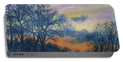 Winter Sundown Sketch Portable Battery Charger by Kathleen McDermott