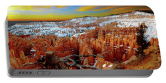 Winter Sunrise At Bryce Portable Battery Charger