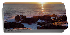 Portable Battery Charger featuring the photograph Winter Sunrise On The Maine Coast  -20913-20915 by John Bald