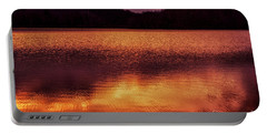 Winter Sunset Afterglow Reflection Portable Battery Charger