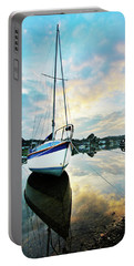 Winter Sunset At Mylor Bridge Portable Battery Charger
