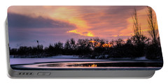 Portable Battery Charger featuring the photograph Winter Sunset by Bryan Carter