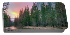 Winter Sunset On Horsetail Falls Portable Battery Charger
