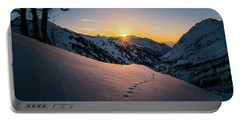 Winter Sunset Over Little Cottonwood Canyon Portable Battery Charger