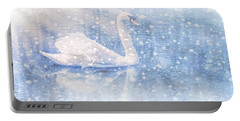 Portable Battery Charger featuring the photograph Winter Swan by Geraldine DeBoer