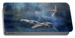 Winter Swans Portable Battery Charger