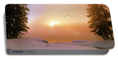 Portable Battery Charger featuring the photograph Winter Swans by Leland D Howard