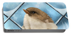 Portable Battery Charger featuring the painting Winter Sweetness  by Veronica Minozzi