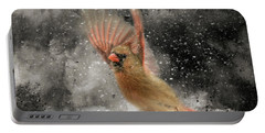 Winter Take Off Songbird Art Portable Battery Charger by Jai Johnson