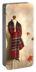 Winter Tartan Scarf Portable Battery Charger