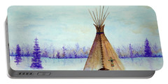 Winter Tepee Portable Battery Charger