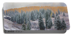 Winter Touches The Mountain Portable Battery Charger by Kristal Kraft