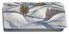 Winter Tranquility Portable Battery Charger by Rae Chichilnitsky