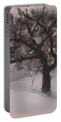 Winter Tree Portable Battery Charger by Laurie Rohner