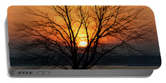 Winter Tree Sunrise Portable Battery Charger