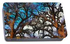 Portable Battery Charger featuring the photograph Winter Trees At Fort Tejon Lebec California Abstract by Floyd Snyder