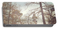 Portable Battery Charger featuring the photograph Winter Trees by Lyn Randle
