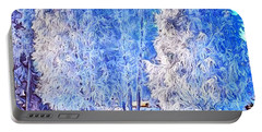 Portable Battery Charger featuring the digital art Winter Trees by Ron Bissett