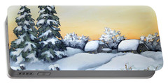 Winter Twilight Portable Battery Charger