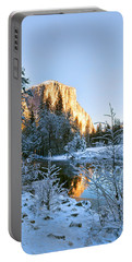 Winter View Of Yosemite's El Capitan Portable Battery Charger