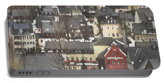 Winter Village With Red House Portable Battery Charger