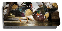 Winter Visitors - Wood Ducks Portable Battery Charger
