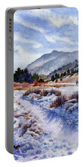 Portable Battery Charger featuring the painting Winter Wonderland by Anne Gifford