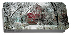 Winter Wonderland Portable Battery Charger by Julie Hamilton