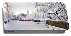 Winter Wonderland Portable Battery Charger by Marius Sipa