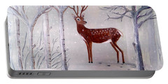 Winter Wonderland - Painting Portable Battery Charger by Veronica Rickard