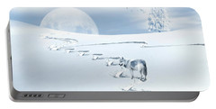 Winter Wonderland - Wolf Portable Battery Charger