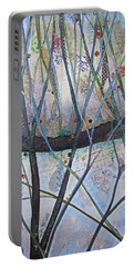 Portable Battery Charger featuring the painting Winterlude by Shadia Derbyshire