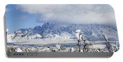 Portable Battery Charger featuring the photograph Organ Mountains Winter Wonderland by Kurt Van Wagner